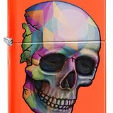 Brichetă Zippo 29402 Skull Neon Orange Finish